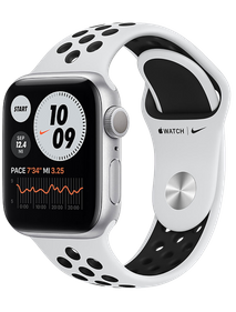 Apple Watch Nike Series 6 40 мм Алюминий Серебристый/Чистая платина/Чёрный M00T3RU-A