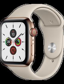 Apple Watch Series 5 LTE 40 мм Сталь золотистый/Песочный спортивный MWWU2