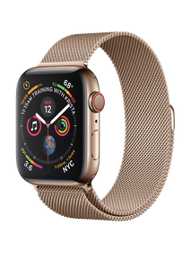Apple Watch Series 4 LTE 40 мм Сталь золотистый/Миланский золотой MTUT2