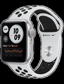 Apple Watch Nike Series 6 44 мм Алюминий Серебристый/Чистая платина/Чёрный MG293RU-A
