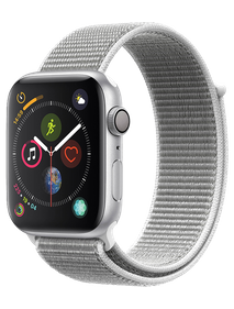 Apple Watch Series 4 40 мм Алюминий серебристый/Нейлон белая ракушка MU652