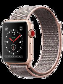 Apple Watch Series 4 44 мм Алюминий золотистый/Нейлон розовый песок MU6G2