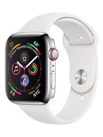 Apple Watch Series 4 LTE 44 мм Сталь серебристый/Белый MTV22