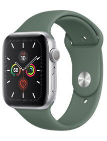 Apple Watch Series 5 40 мм Алюминий серебристый/Зелёный спортивный MWRX2