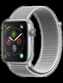 Apple Watch Series 4 LTE 40 мм Алюминий Серебристый/Нейлон белая ракушка MTUF2