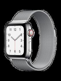 Apple Watch Series 4 LTE 44 мм Сталь серебристый/Миланский MTV42