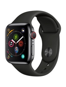 Apple Watch Series 4 LTE 44 мм Сталь чёрный космос/Чёрный MTV52