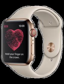Apple Watch Series 4 LTE 44 мм Сталь золотистый/Бежевый MTV72