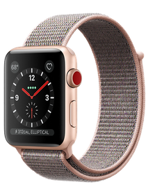 Apple Watch Series 4 LTE 44 мм Алюминий золотистый/Нейлон розовый песок MTV12