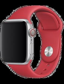 Apple Watch Series 5 40 мм Алюминий серебристый/Красный спортивный MU9M2