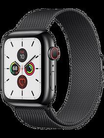 Apple Watch Series 5 LTE 44 мм Сталь черный/Миланский черный MWW82