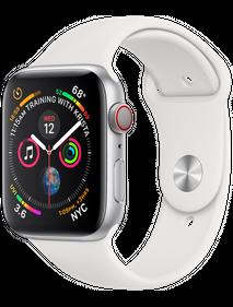 Apple Watch Series 4 44 мм Алюминий Серебристый/Белый MU6A2