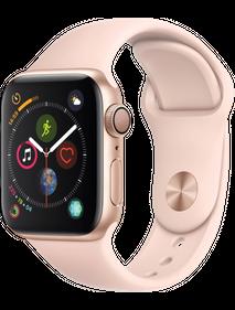 Apple Watch Series 4 LTE 44 мм Алюминий золотистый/Розовый песок MTV02