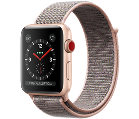 Apple Watch Series 4 LTE 40 мм Алюминий золотистый/Нейлон розовый песок MTUK2