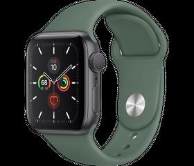 Apple Watch Series 5 40 мм Алюминий Серый космос/Зелёный MWVT02