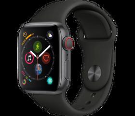 Apple Watch Series 4 LTE 44 мм Алюминий серый космос/Черный MTUW2