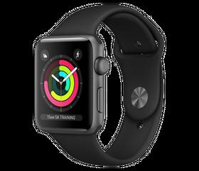 Apple Watch Series 3 LTE 42 мм Алюминий Серый Космос/Чёрный MR2X2