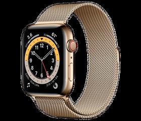 Apple Watch Series 6 LTE 44 мм Сталь золотистый / Миланский золотой M06G3