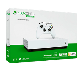 Игровая консоль Xbox One S 1 TB All-Digital + SOT, Minecraft, Fortnite