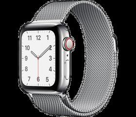 Apple Watch Series 5 LTE 44 мм Серебристый/Миланский серебристый MWW32