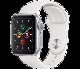 Apple Watch Series 5 LTE 40 мм Алюминий серебристый/Белый спортивный MWWR2