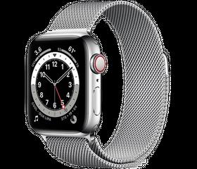 Apple Watch Series 6 LTE 44 мм Сталь серебристый / Миланский серебристый M09E3