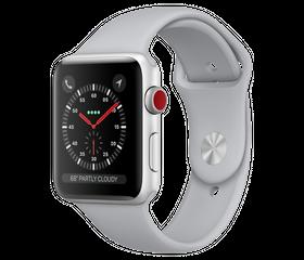 Apple Watch Series 3 LTE 42 мм Алюминий Серебристый/Дымчатый MQK12