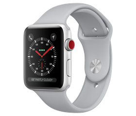 Apple Watch Series 3 Wi-Fi 38 мм Алюминий Серебристый/Дымчатый MQKU2/MTEY2