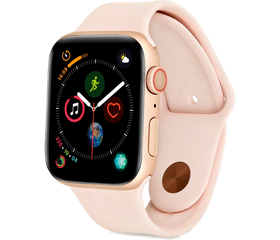 Apple Watch Series 4 44 мм Алюминий Золотистый/Чёрный MU6F2