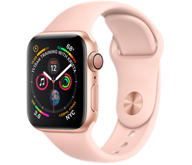 Apple Watch Series 5 44 мм Алюминий золотистый/Розовый песок MWVE2