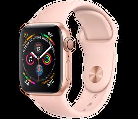 Apple Watch Series 5 LTE 44 мм Алюминий золотистый/Розовый песок MWWD2