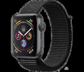 Apple Watch Series 4 44 мм Алюминий серый космос/Нейлон черный MU6E2