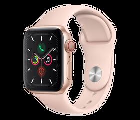 Apple Watch SE 44 мм Алюминий Золотистый/Розовый песок MYDR2RU-A
