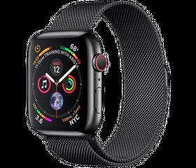 Apple Watch Series 4 LTE 40 мм Cталь черный/Миланский черный MTUQ2