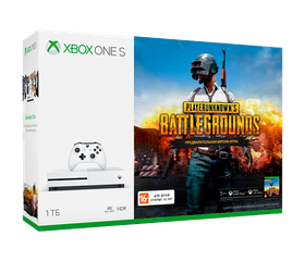 Игровая консоль Xbox One S 1 TB (WOT Mercenaries, PUBG, Xbox Live Gold 1 мес, GamePass 1 мес (234-00311)