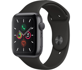 Apple Watch Series 5 (LTE) 40 мм Алюминий Серый Космос/Чёрный MWX32