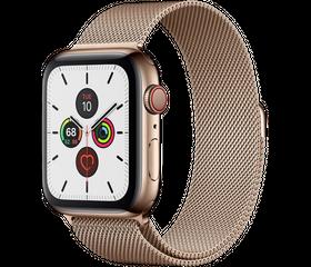 Apple Watch Series 5 (LTE) 44 мм Сталь Золотистый/Миланский золотой MWWJ2