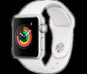 Apple Watch Series 4 40 мм Алюминий серебристый/Белый MU642