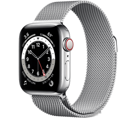 Apple Watch Series 6 LTE 40 мм Сталь серебристый / Миланский серебристый M06U3