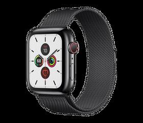 Apple Watch Series 4 LTE 44 мм Сталь чёрный/Миланский чёрный MTV62