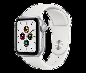 Apple Watch SE 44 мм Алюминий Серебристый/Белый MYDQ2RU-A