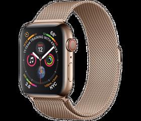 Apple Watch Series 4 LTE 44 мм Сталь золотистый/Миланский золотой MTV82
