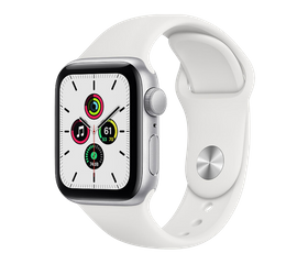 Apple Watch SE 40 мм Алюминий Серебристый/Белый MYDM2RU-A