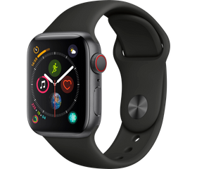 Apple Watch Series 4 44 мм Алюминий серый космос/Черный MU6D2