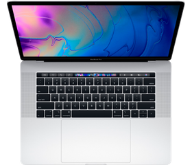 "Apple MacBook Pro 15"" Touch Bar (2018) Core i7 2,6 ГГц, 16 GB, 256 GB SSD, «Silver» [MR962]"