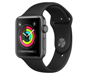 Apple Watch Series 3 Wi-Fi 38 мм Алюминий Серый Космос/Чёрный MQKV2/MFT02