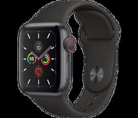 Apple Watch Series 5 44 мм Алюминий серый космос/Черный спортивный MWVF2