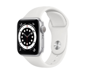 Apple Watch Series 6 40 мм Алюминий Серебристый/Белый MG283RU-A