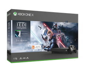 Игровая консоль Xbox One X 1 TB + Star Wars Jedi Falled Order